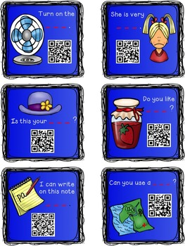 Short Vowel Words {Sentence Fluency} Task Cards with QR Codes