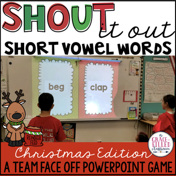 Short Vowel Words Game (Christmas Edition)