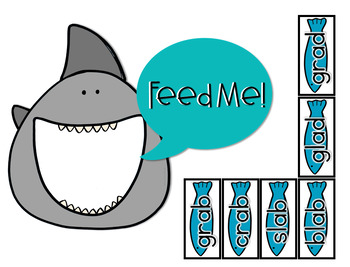 Short Vowel Words with Blends and Digraphs Center (Hungry, Hungry Shark)