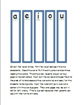 Short Vowel Words - with pull-down vowel strips