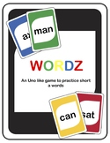 Short Vowel Wordz (an Uno like game to practice short vowe