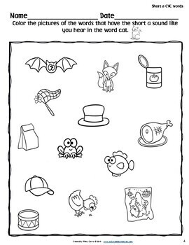 FREE Short a Vowel Workbook - Activities for Every Learner