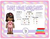 Short Vowel Worksheet Pack