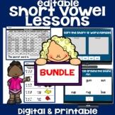 Short Vowel Worksheets Digital & Printable - BUNDLE