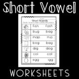 Short Vowel Worksheets: A, E, I, O, and U