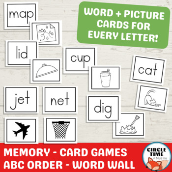 Letter of the Week A-Z Consonants & Vowels Worksheets, Initial Sound Activities
