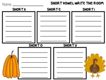 Short Vowel Write the Room