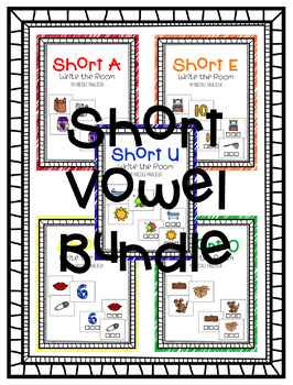 Short Vowel Write the Room Bundle