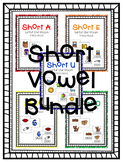 Short Vowel Write the Room Bundle