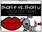 Short Vowel Write the Room: Short i vs. Short a (Aligned to 1st Grade Journeys)