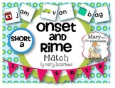 Short Vowel A - Onset and Rime Activity - Free