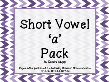 Short Vowel 'a' Pack