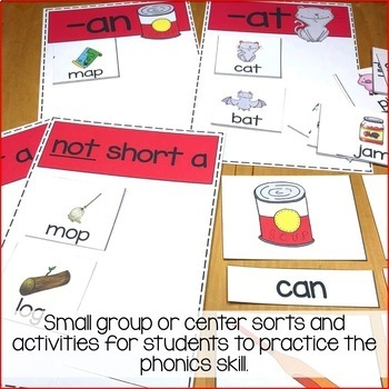 Short a Vowel Activities - Sorts and Worksheets