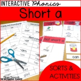 Short a Word Work Activities - Sorts and Worksheets
