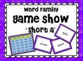 Short Vowel 'a' Word Families GAME SHOW for PowerPoint