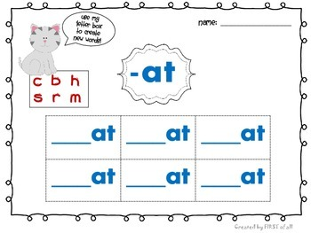 Short Vowel /a/ Word Work