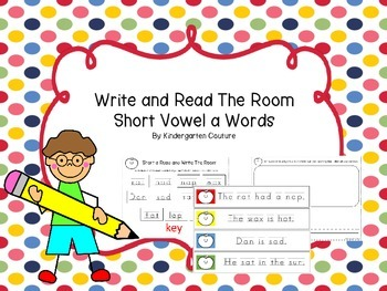 Short Vowel a Write and Read The Room