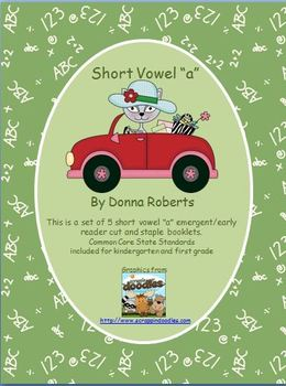 "Short Vowel ""a"" cut and staple emergent/early reader booklets"