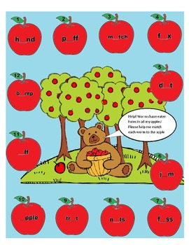 Short Vowel a o u apple tree