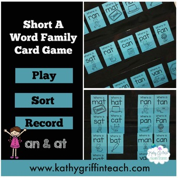Short Vowel an and at Fluency Card Game and Activities
