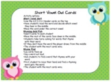 Short Vowel and Long Vowel Owl Themed Sorting activity