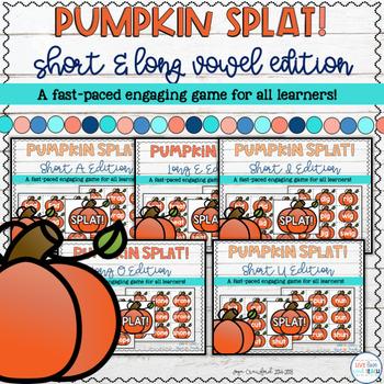 Short Vowels and Long Vowels Game - Pumpkin SPLAT