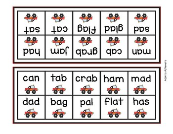 Short Vowel and Long Vowel -e Word Speed Reading Game