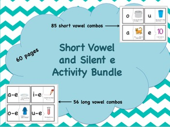Short Vowel and  Silent e Activity Bundle