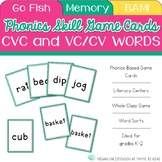 Short Vowel and VC/CV Words Cards