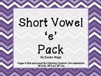 Short Vowel 'e' Pack