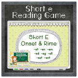 Short Vowel E Word Family Words | Interactive Reading Game | Onset & Rime Style