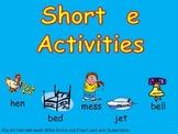 Short Vowel e Word Work- Kindergarten 1st Grade Reading & Writing