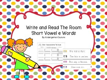 Short Vowel e Write And Read The Room