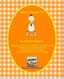 """Short Vowel """"e"""" cut and staple emergent/early reader booklets"""