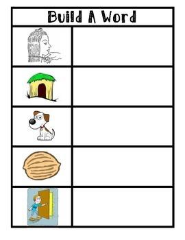 Short Vowel i Build a Word Magnet Center