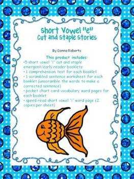 """Short Vowel """"i""""   Cut and Staple Stories and more!"""