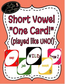 "Short Vowel i ""One Card"" Game (played like UNO!)"