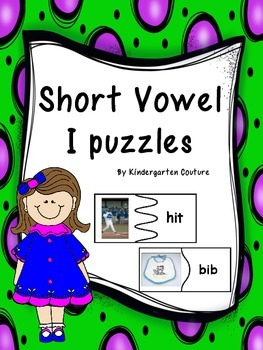 Short Vowel i Puzzles -real world pictures