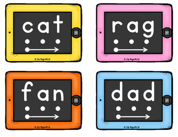 Short Vowel iPad Segmenting and Blending Cards
