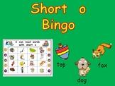 Short Vowel o Bingo Game- Kindergarten Word Work