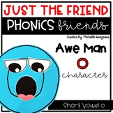 Short Vowel o Craftivity, Phonics Friends Character Only, Just the Friend
