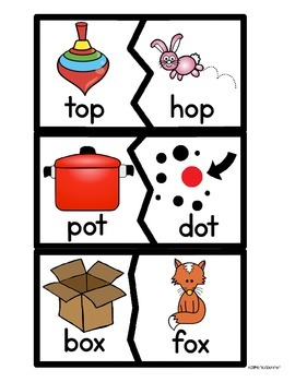 Short Vowel o Literacy Centers