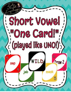"""Short Vowel o """"One Card"""" Game (played like UNO!"""