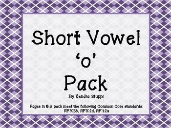 Short Vowel 'o' Pack