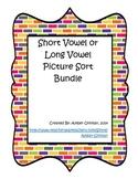 Short Vowel or Long Vowel Picture Sort Bundle