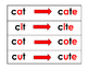 Short Vowel to Long Vowel Cards