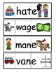 Short Vowel to Long Vowel Silent e Folding cards