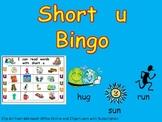 Short Vowel u Bingo Game- Kindergarten Word Work