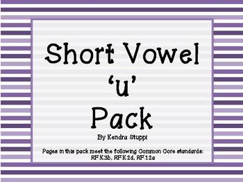 Short Vowel 'u' Pack