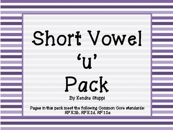 Short Vowel 'u' Pack
